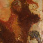abstraktes Bild in Erdfarben