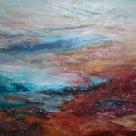 abstrakt Landschaft mit See