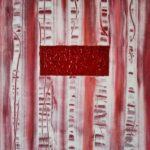 abstraktes Bild in Acryl gemalt