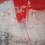 Acrylbild in rot weiss und grau