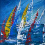 abstrakte Segelboote