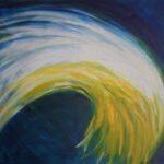 Energie in Blau,gelb,weiss
