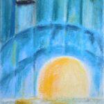 abstraktes Bild vom Sonnenaufgang